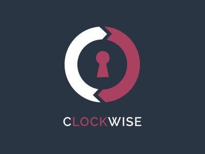 Clockwise logo circle design flat