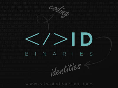 Vivid Binaries logo brand