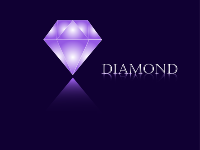 Diamond icon logo purple diamond logo diamond jewel jewelry design illustration