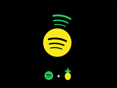 Spotify + Pineapple music fruit pineapple music app spotify redesign logo illustration