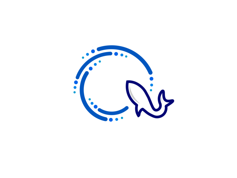 Q Letter + Shark blue q logo sea shark q letter design logo illustration