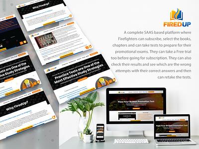 SAAS platform learning platform firefighters website web ui ux design