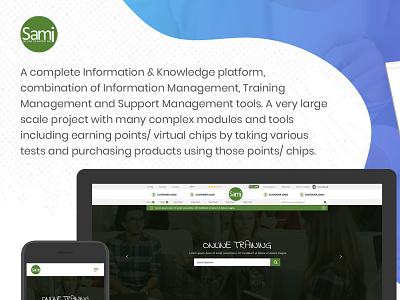 Knowledge Platform support management website web ui ux design