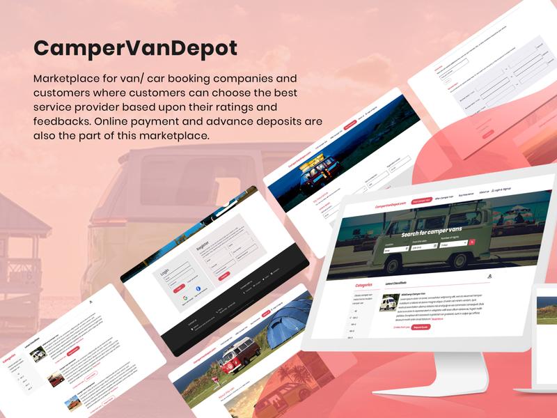 Design Vandeport ecommerce marketplace website web ux ui design