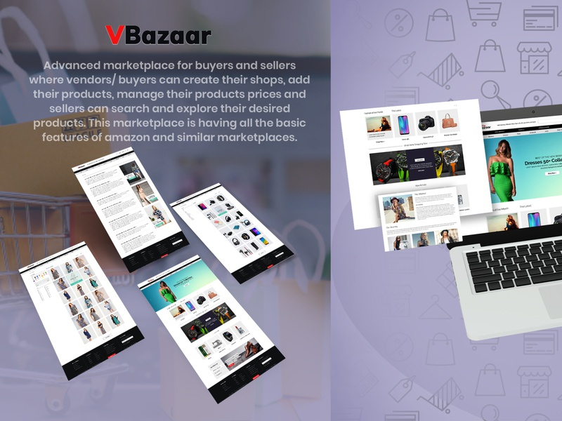 Web desigh ecommerce marketplace website web ux ui design