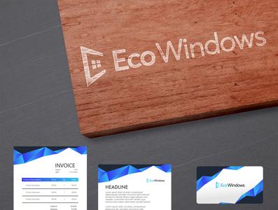 Eco windows Design adobe photoshop branding ecommerce logo design