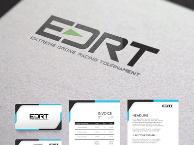 Logo Design of EDRT ( Extreme Drone Racing Tournament ) adobe photoshop artwork logo design drone logo drones tournament logo design