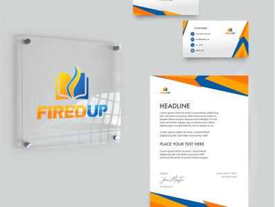 Fired up Logo design logo design adobe photoshop logo ecommerce branding ux ui design