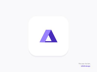 Aim designlogoaim letter icon