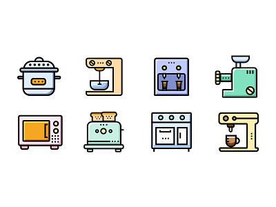 Kitchen Appliances icon logo illustration design icon ui