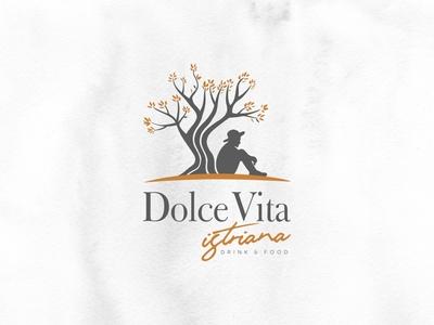 Dolce Vita Istriana Logo branding typography illustration croatia design vector minimal logo design brand istria logo