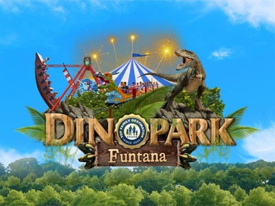 Dinopark Funtana - Istria jungle croatia photography photoshop illustration logo design brand branding design logo dinosaur
