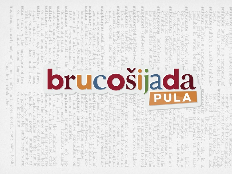 Brucosijada Pula poster pula event typography istria vector minimal croatia logo design design logo branding brand