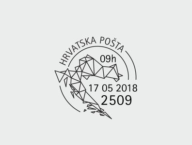 Postcard stamp postcards croatia hrvatska illustrator postcard