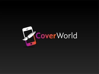 Cover World logo vector logo design concept logo cover design phone mobile world cover