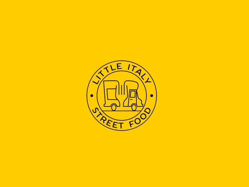 Little Italy street food logo event street icon illustration minimal vector design logo design italy logo