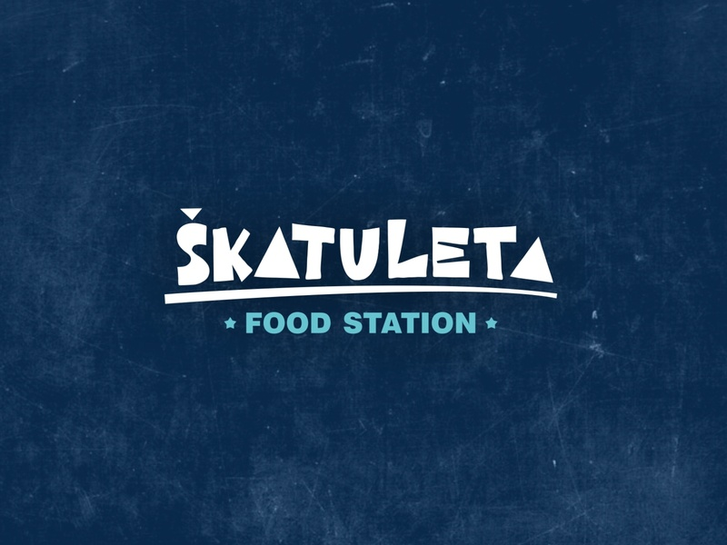 Škatuleta - food station logo design brand vector logo design design croatia logo food logo fast food logo food and drink fast food food