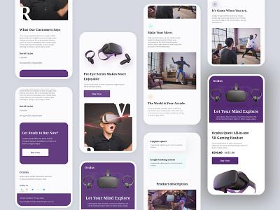 Oculus Responsive Website Design ux design ux ui kit uiux ui design uidesign ui template responsive mobile minimal landingpage html5 figma design app design creative clean card app