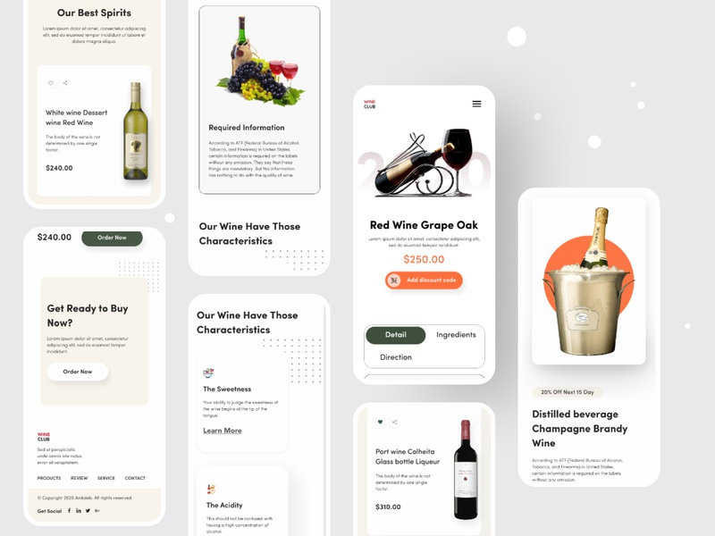 Wine Club Responsive Website Design mobile responsive website web design web ux user interface design. user interface user experience ui responsive design mobile website mobile screen mobile interface hiring graphic design design studio design company website adaptive design