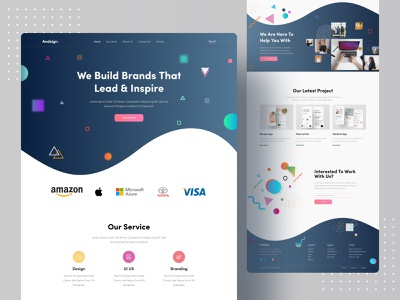Creative Agency Landing Concept clean minimalist creative agency colorful design figma web web design website digital marketing 2020 trend dribbble best shot popular design popular landing page ui uiux design system design studio