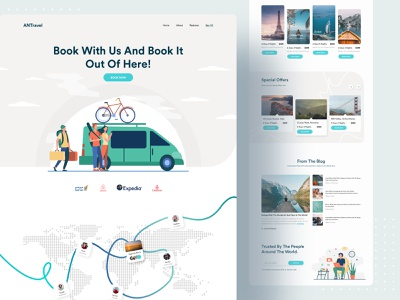 Travel Web UI Exploration user experience user interface design studio design system uiux ui landing page popular design popular dribbble best shot 2021 trend web design website web design colorful agency creative minimalist clean