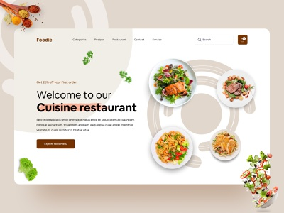 Restaurant Web UI Exploration ( Making ) || 2021 home page landing page 2021 trend designer design best top food delivery restaurant popular dribbble best shot foodie food concept website concept website design webdesign web design website web