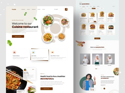 Restaurant Web UI Exploration || 2021 best top design designer web ui homepage design landing page 2021 trend popular design dribbble best shot restaurant food delivery foodie food website concept website design webdesign web design website web