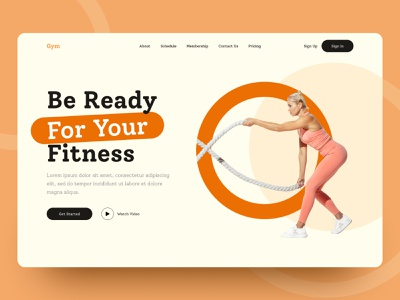 Gym Web UI Exploration || 2021 top best fitness gym product home page uidesign interface uiuxdesign uiux ui branding web