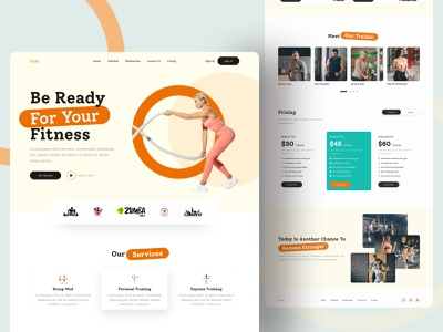 Gym Web UI Exploration || 2021 design anikdesign fitness gym website gym logo gym website web landingpage website design landing page webdesign web design branding homepagedesign website concept homepage ui designer best designer best designers