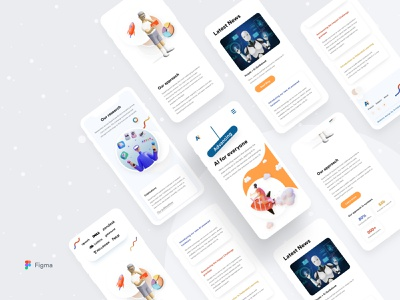 Artificial Intelligence Web Responsive || Grapeslab grapeslab team grapeslab anikdeb redesign 3d top designer best designer design uiux dribbble best shot web mobile responsive illustration responsive mobile ui mobile