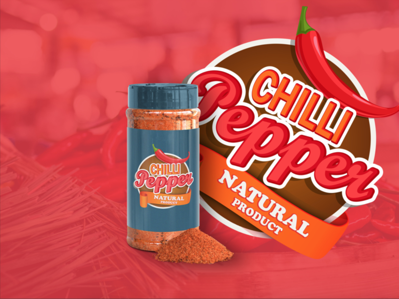 Chilli pepper branding vector logo illustration design