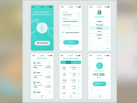 Recycling app. app ux ui web illustration design