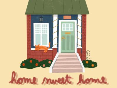 Home sweet home our home home sweet home love procreate illustration digital illustration digital art