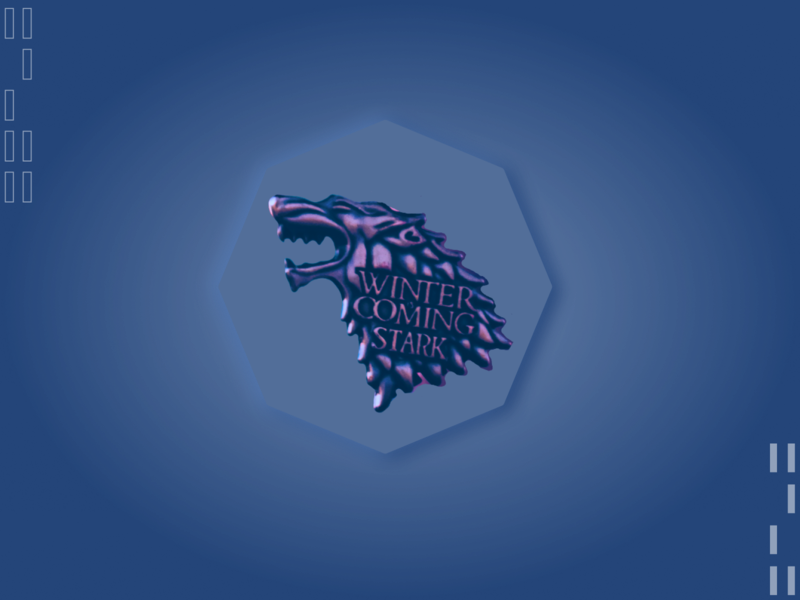 GOT - Weekly warmup design skeuomorph game of thrones blue