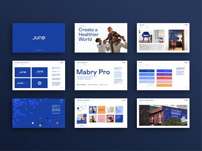 Juno_Brand Guidelines brand book guidelines identity typography healthcare brand identity brand design brand