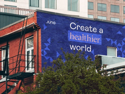 Juno_Mural outdoor mural identity brand healthcare brand design