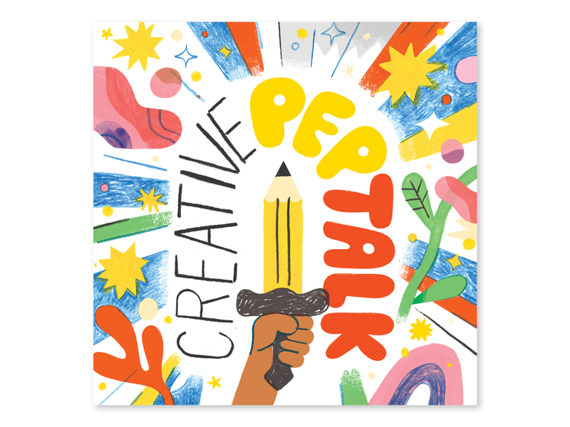 NEW PODCAST ART + NEW EPISODE andy j pizza creative practice episode art podcast art podcast artwork creativity creative career podcast design lettering illustration creative pep talk