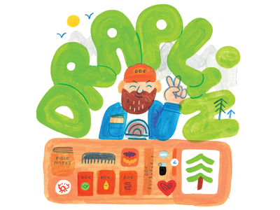 Aaron Draplin on Creative Pep Talk!! merch portrait aaron draplin thick lines draplin creativity creative career podcast design lettering illustration creative pep talk