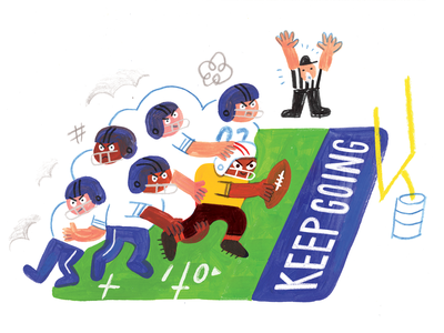 It's Aint Tought Cuz You're Losing! the resistance editorial illustration podcast artwork pep talk creative football