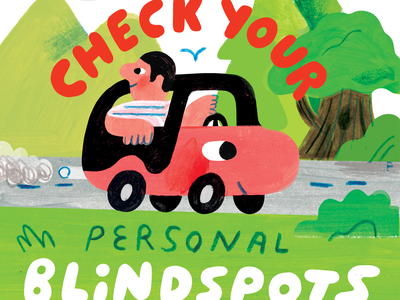 Check Your Personal Blindspots! podcast art creative career podcast design lettering illustration creative pep talk