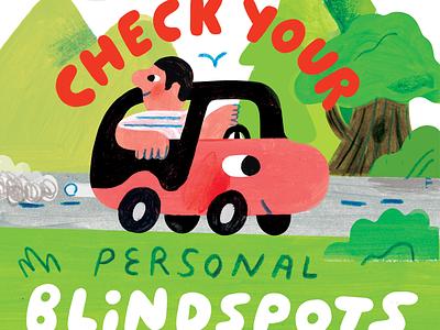 Check Your Personal Blindspots! podcast art creative career podcast design lettering illustration creative pep talk