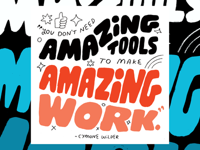 Cymone Wilder on Creative Pep Talk podcast art creativity creative career podcast design lettering illustration creative pep talk