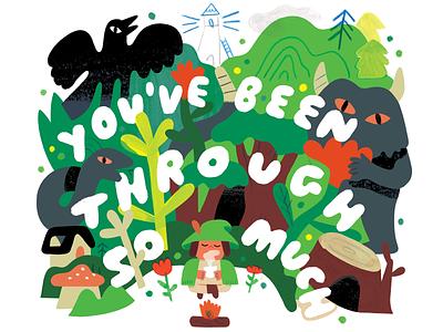 New Podcast: Mid Year Creative Reboot motivation monster hero journey woods creativity creative career design podcast lettering illustration creative pep talk