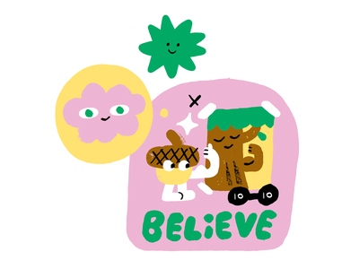 Believe in Your Inner Potential! acorn branding creativity creative career design podcast lettering illustration creative pep talk