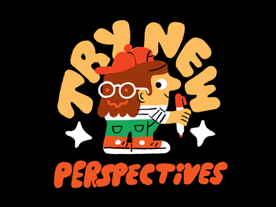 Try New Perspectives creativity creative career design podcast lettering illustration creative pep talk