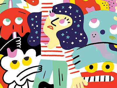 Unlock Your True Potential lettering illustration creative pep talk