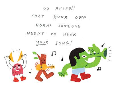 12 FRESH TACTICS to Get Your Work Seen weird music podcast illustration podcast art creative pep talk