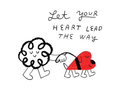 Want More Followers? Ask Yourself This podcast art valentines love chaos dog heart illustration creative pep talk