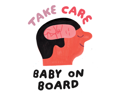 Your Mind is the Womb for Your Future You future brain mind creative career podcast design lettering illustration creative pep talk