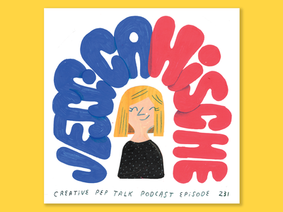 The Power of Finding Your People with Jessica Hische woman portrait jessica hische creativity woman podcast lettering illustration creative career